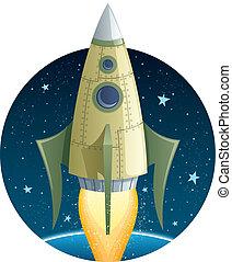 火箭, 空间