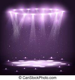 火花, 階段, 聚光燈, rain.