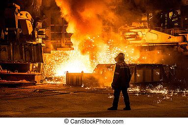 火花, 高炉, 製鋼工