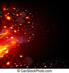 火花, fiery