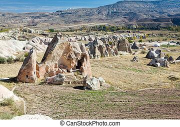 火雞, 遊人,  -, 著名, 地方,  Cappadocia