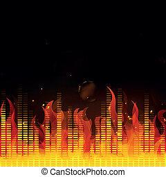 火, イコライザ, ベクトル, 音楽