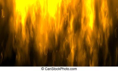 火, イラスト, デジタル