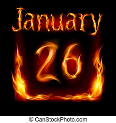 火, カレンダー