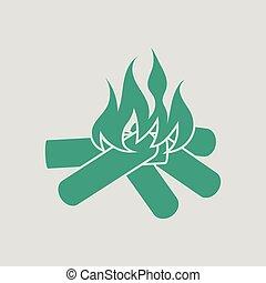 火, キャンプ, アイコン