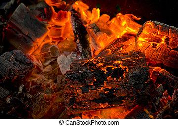 火, キャンプ