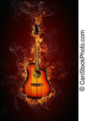 火, ギター