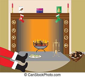 火, クリスマス