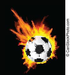 火, サッカーボール
