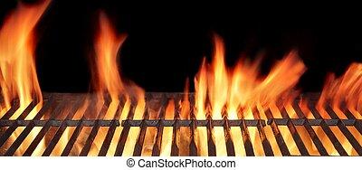 火, バーベキューの グリル