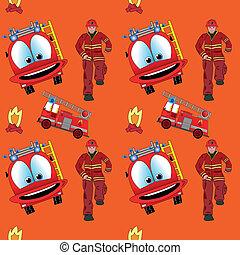 火, パターン, トラック, seamless, 人