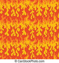 火, パターン, 抽象的, seamless