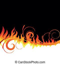 火, ベクトル, 背景