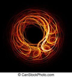 火, リング, 光線