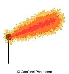 火, リング, 爆発する, アイコン