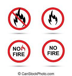 火, 不, 签署, 放置