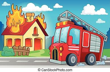 火, 主題, トラック, イメージ, 3
