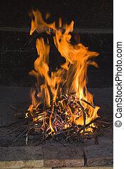 火, 伝統的である, 炉辺, 炎