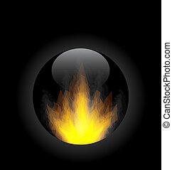 火, 円, 炎, フレーム