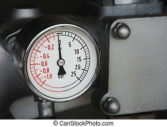 火, 型, 圧力計, トラック
