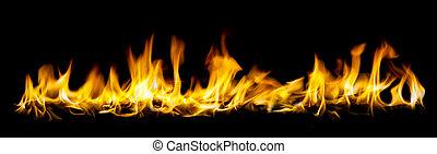 火, 広い天使, 光景