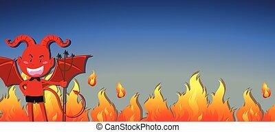 火, 悪魔, 赤