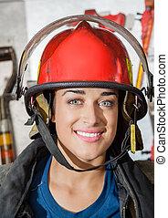 火, 愉快, 車站,  Firewoman