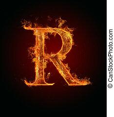 火, 手紙