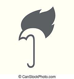 火, 抽象的, アイコン, 傘, シンボル