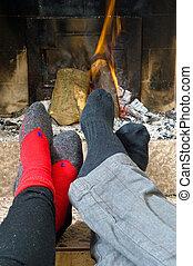火, 暖まること