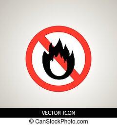 火, 标志。, 不