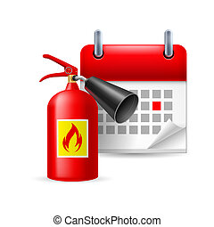 火 消火器, カレンダー