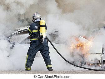 火, 消防士