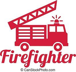 火, 消防士, 単語, エンジン