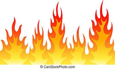 火, 炎, seamless, 背景