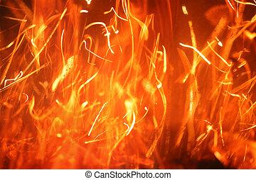 火, 燃え上がる