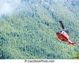 火, 直升飛机, 1