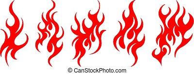火, 要素を設計しなさい, セット, ベクトル