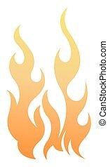 火, 要素, ベクトル