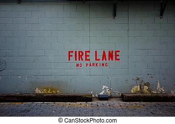 火, 車線