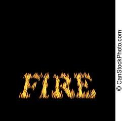 火, 隔離された, 黒い背景, 炎, 壷