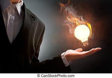 火, 電球