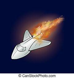 火, 飛行機, 炎, 燃焼