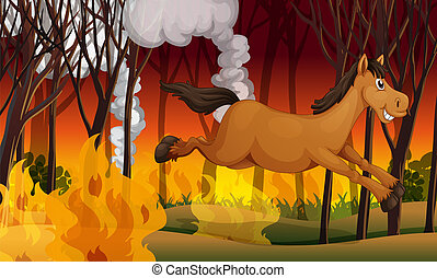 火, 馬, 動くこと