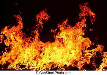 火, 黒, 燃焼, 背景