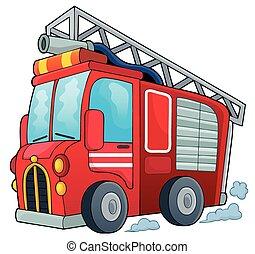 火, 1, 主題, トラック, イメージ