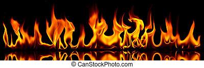 火, flames.