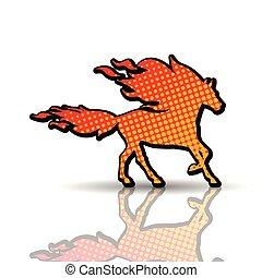 火, horse-animal