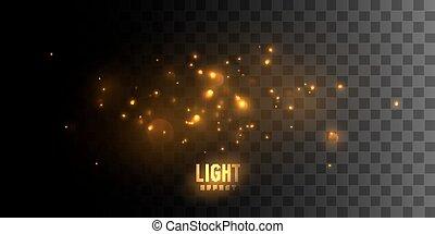 火, stars., 發光