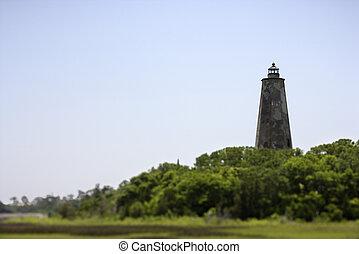 灯台, はげ, island., 頭